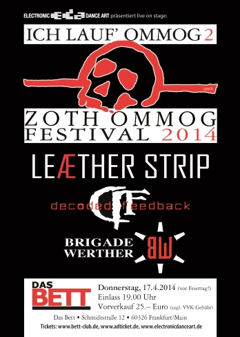 BRIGADE WERTHER plays at Zoth Ommog Festival 2014